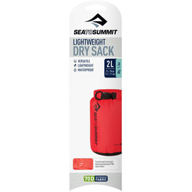 Sea to Summit Lightweight 70D Kuivapussi 2L, red